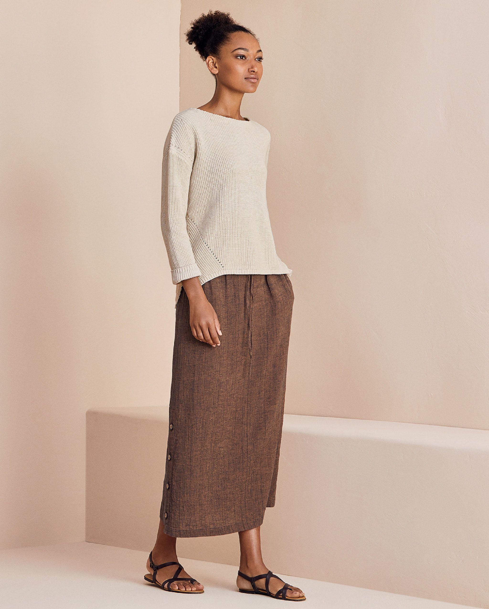 be607fc3da Poetry - Linen cotton crinkle skirt