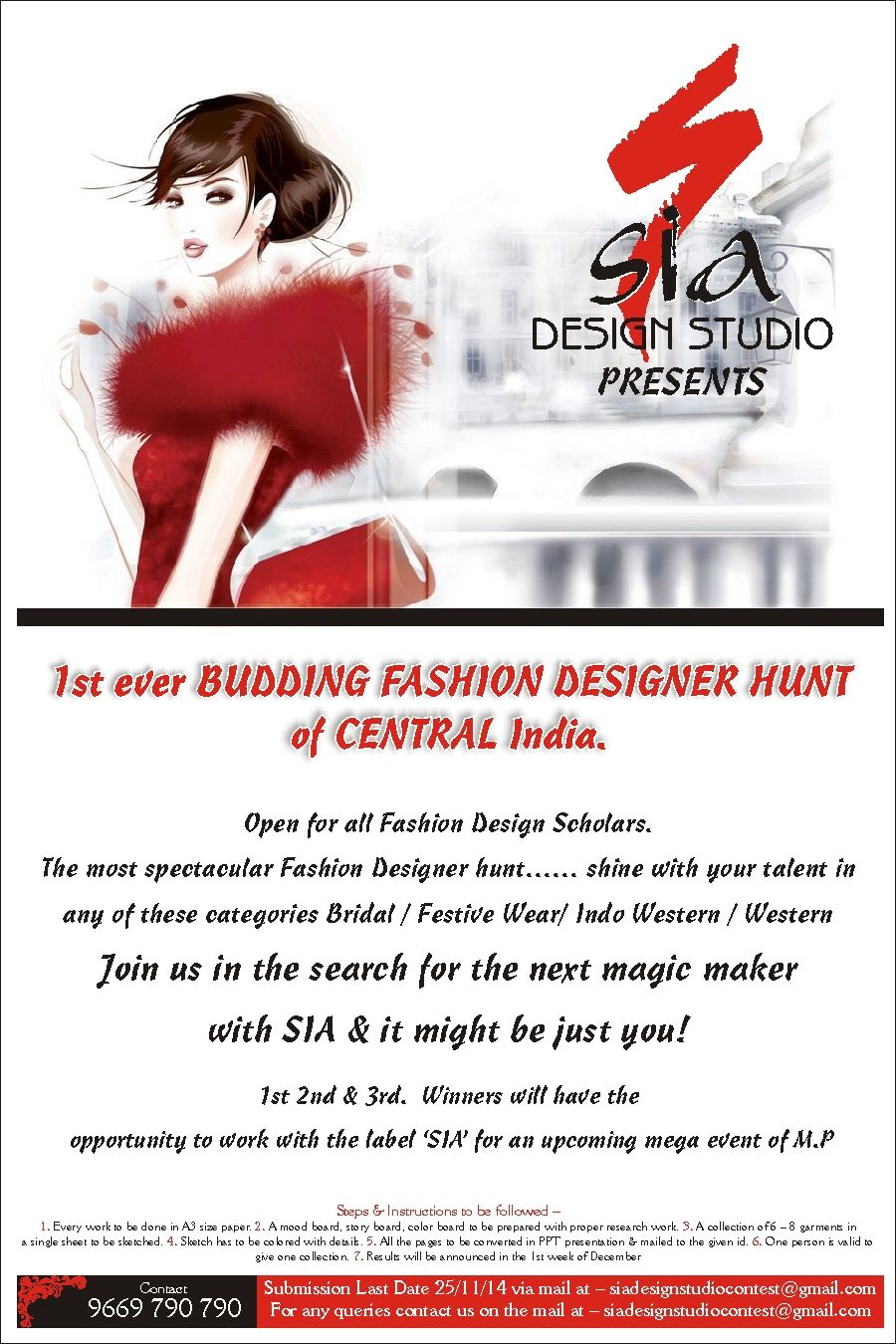 Sia Design Studio Launches Central India S First Fashion Designer Hunt Design Studio Fashion Design Design
