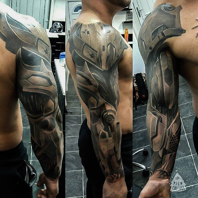 Cyborg Sleeve | Shoulder armor tattoo, Armour tattoo, Best ...