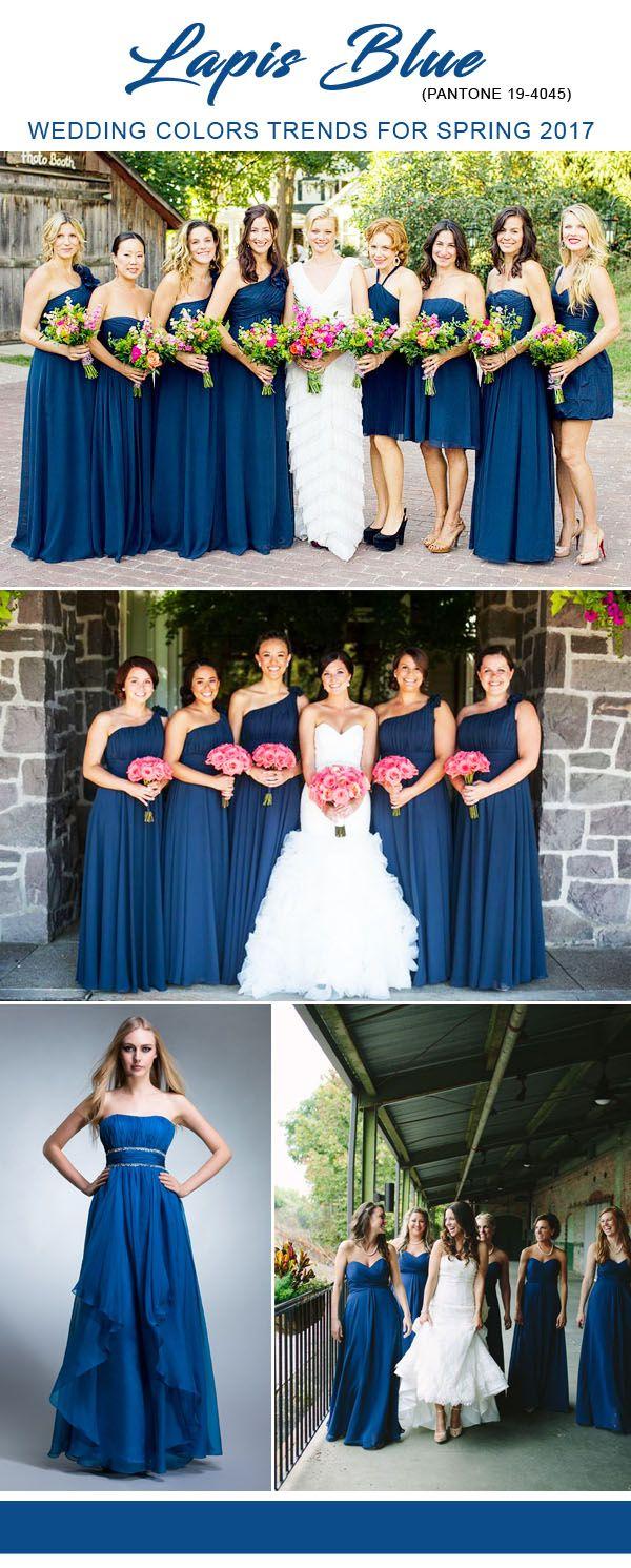Lapis blue pantone color ideas for 2017 bridesmaid dressesg lapis blue pantone color ideas for 2017 bridesmaid dresses ombrellifo Images