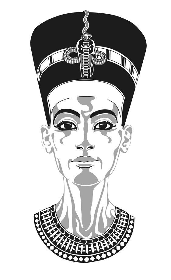 Black Nefertiti Drawing : black, nefertiti, drawing, Nefertiti,, Queen, Egypt., History,, Egyptian, Nefertiti, Depicted, Powerful,, Independent, Woman., Egypt, Tattoo,