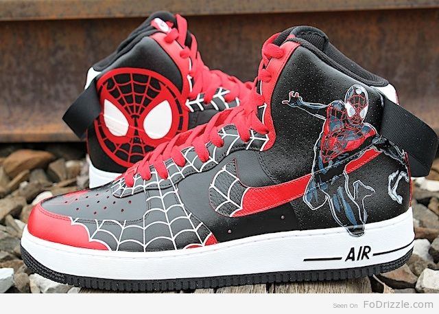 Spider Man Air Force Ones | Spiderman Air Force Ones | Unto