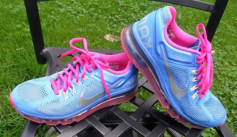 on sale 15919 4e2d6 NIKE Air Max 2013 Size 5 Youth Blue Pink Style  555753-402 VGC NICE!  Nike   AirMaxAthletic
