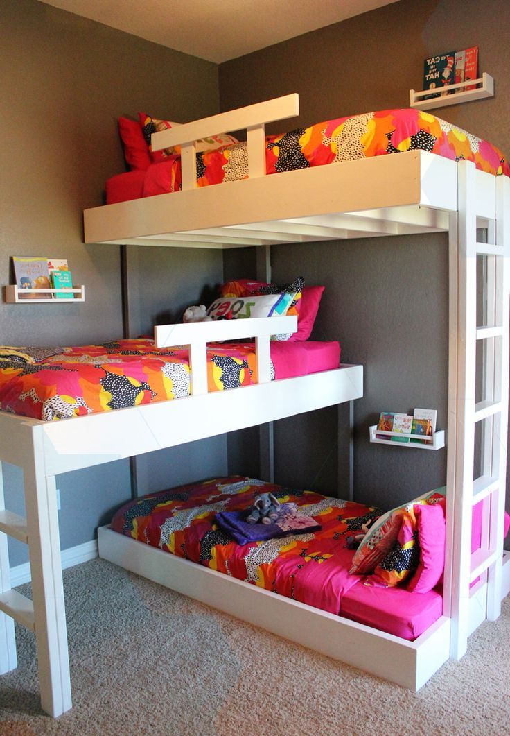 we have been dreaming about custom triple bunk beds since