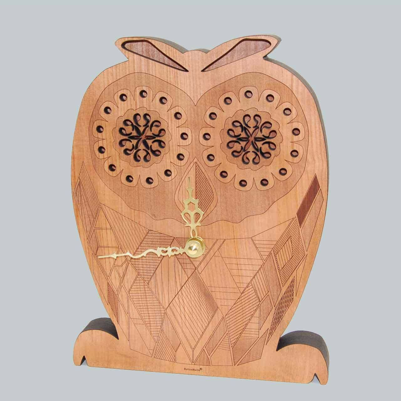 Wooden owl clock cute folky girls wall clock gifts and wooden owl clock cute folky girls wall clock amipublicfo Choice Image