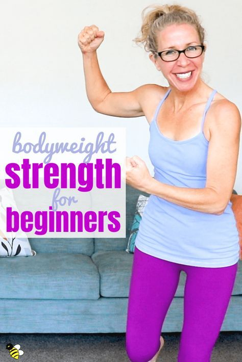 40 minute BODYWEIGHT STRENGTH for beginners, NO squats, ALL standing! • Pahla B Fitness