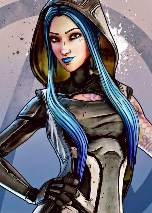 "Borderlands Characters Maya #Displate artwork by artist ""BlueTodyArt"". Part of a set based on… | Displate thumbnail"