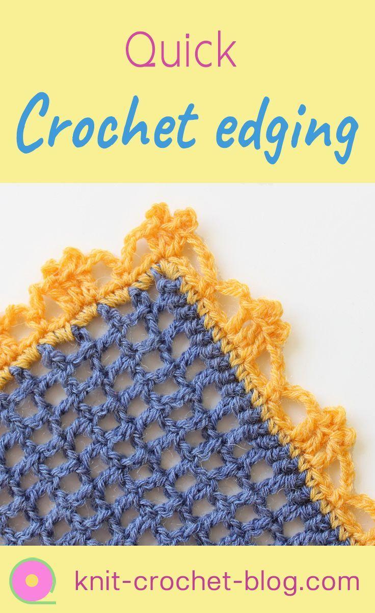 Quick crochet edging. Crochet an easy border