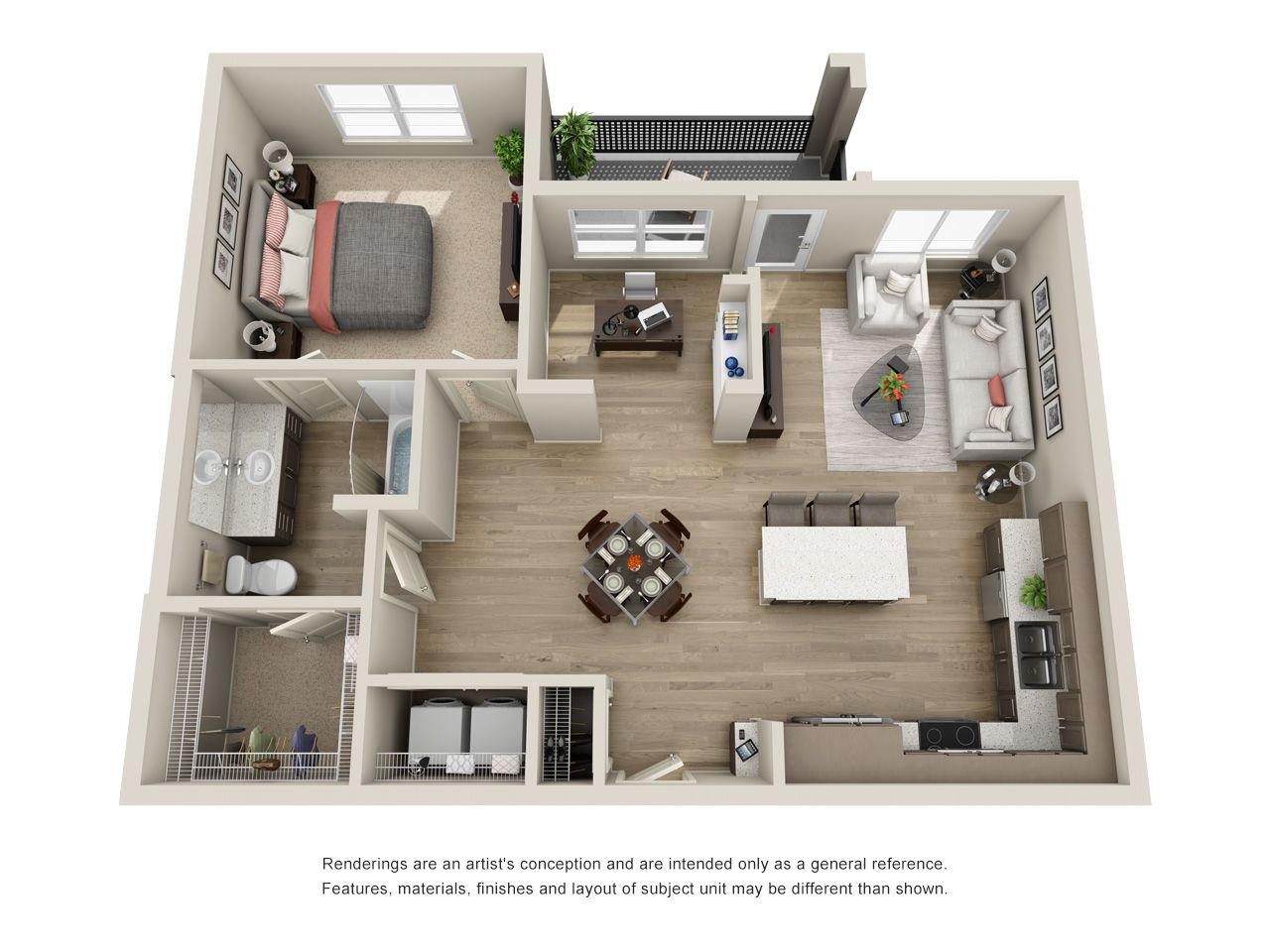 A5 1 Bedroom Den 947 Sq Ft Sims House Plans Apartment Layout Small House Design