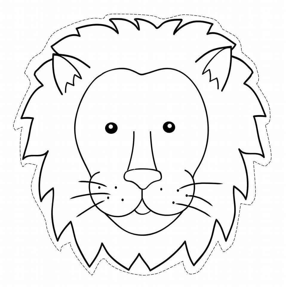 Pin By Ingrid Jansen On Exoticke Zvierata Animal Masks For Kids Animal Coloring Pages Animal Masks