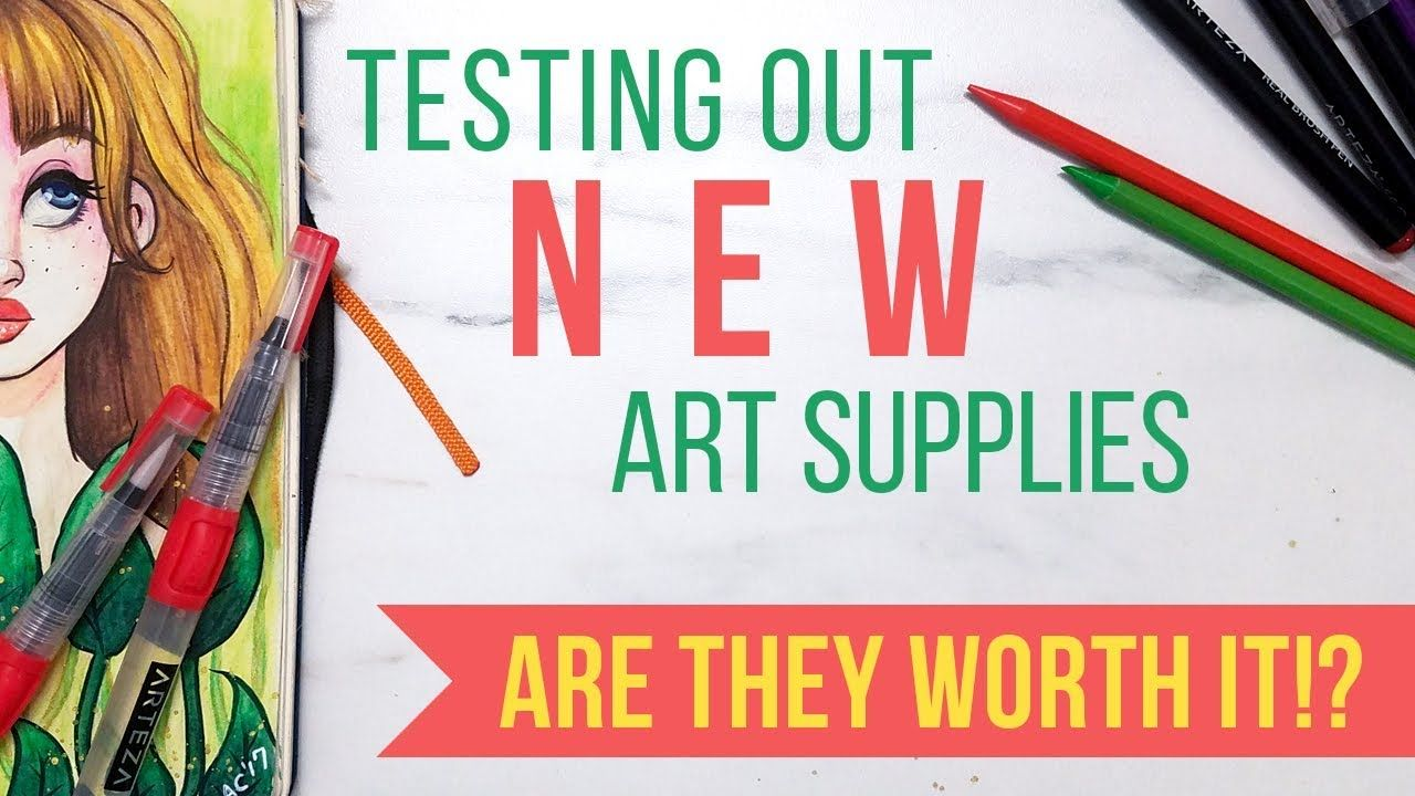 Arteza Real Brush Pens Watercolor Paper And Self Watering Brushes