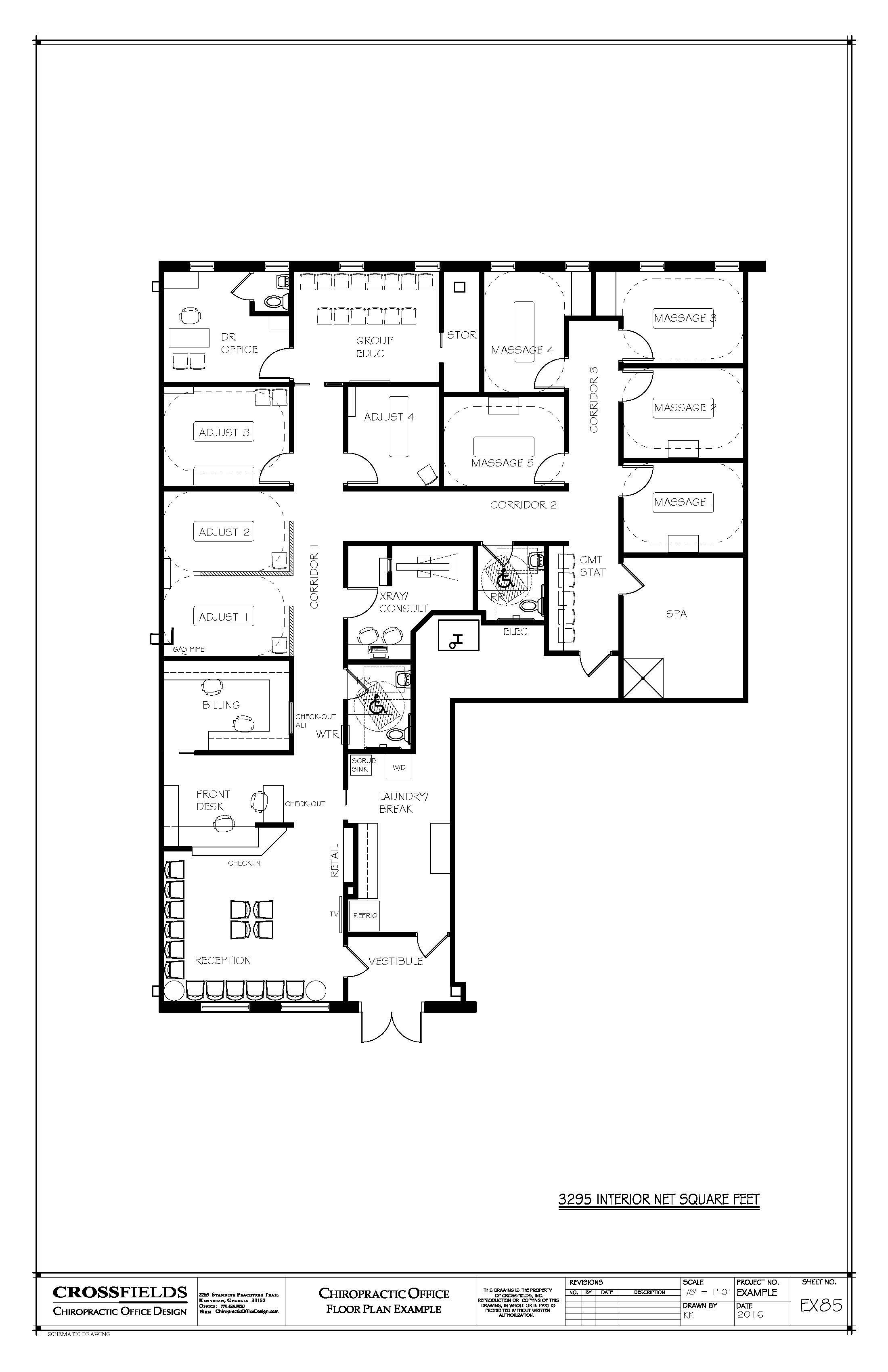 Example floor plan closed adjusting spa room for Floor plan examples