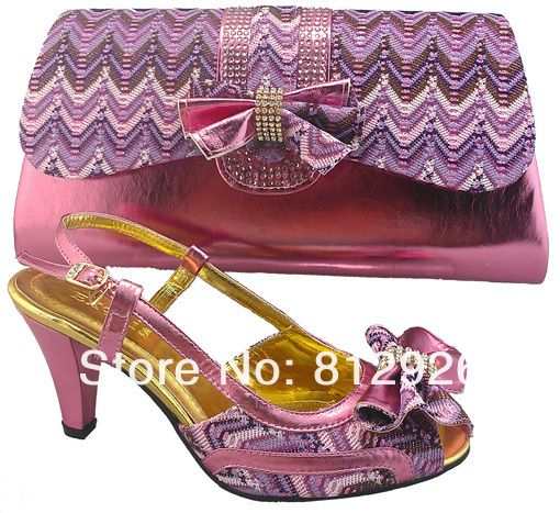 Free Shipping!!! italian shoes with matching bags pink SIZE 38-42 US  81.99 5262591656f7