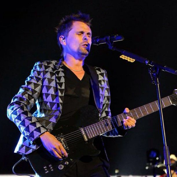 #ncaa Another pic from this weekend's concerts: Muse singer-guitarist Matt Bellamy performs for the Final Four weekend Saturday, April 6, 2013 in Centennial Olympic Park in Atlanta. (Robb D. Cohen/ www.RobbsPhotos.com) #bigdance #basketball #bball #atl #atlanta