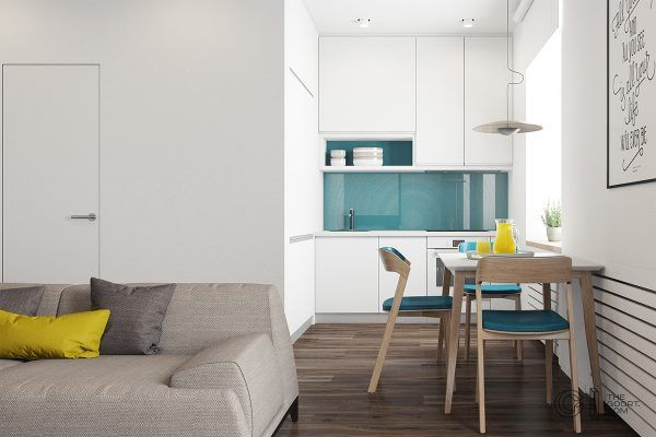 3 modern style apartments under 50 square meters includes floor plans
