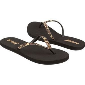 9661a877f73726 Reef REEF Stargazer Womens Sandals - be the first to rate this item Reef  Stargazer flip flops. Rubber upper with leopard pattern glitter.