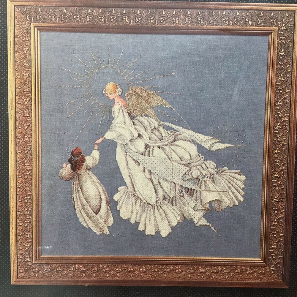 Details About Lavender Lace Angel Of Mercy With Child By Marilyn