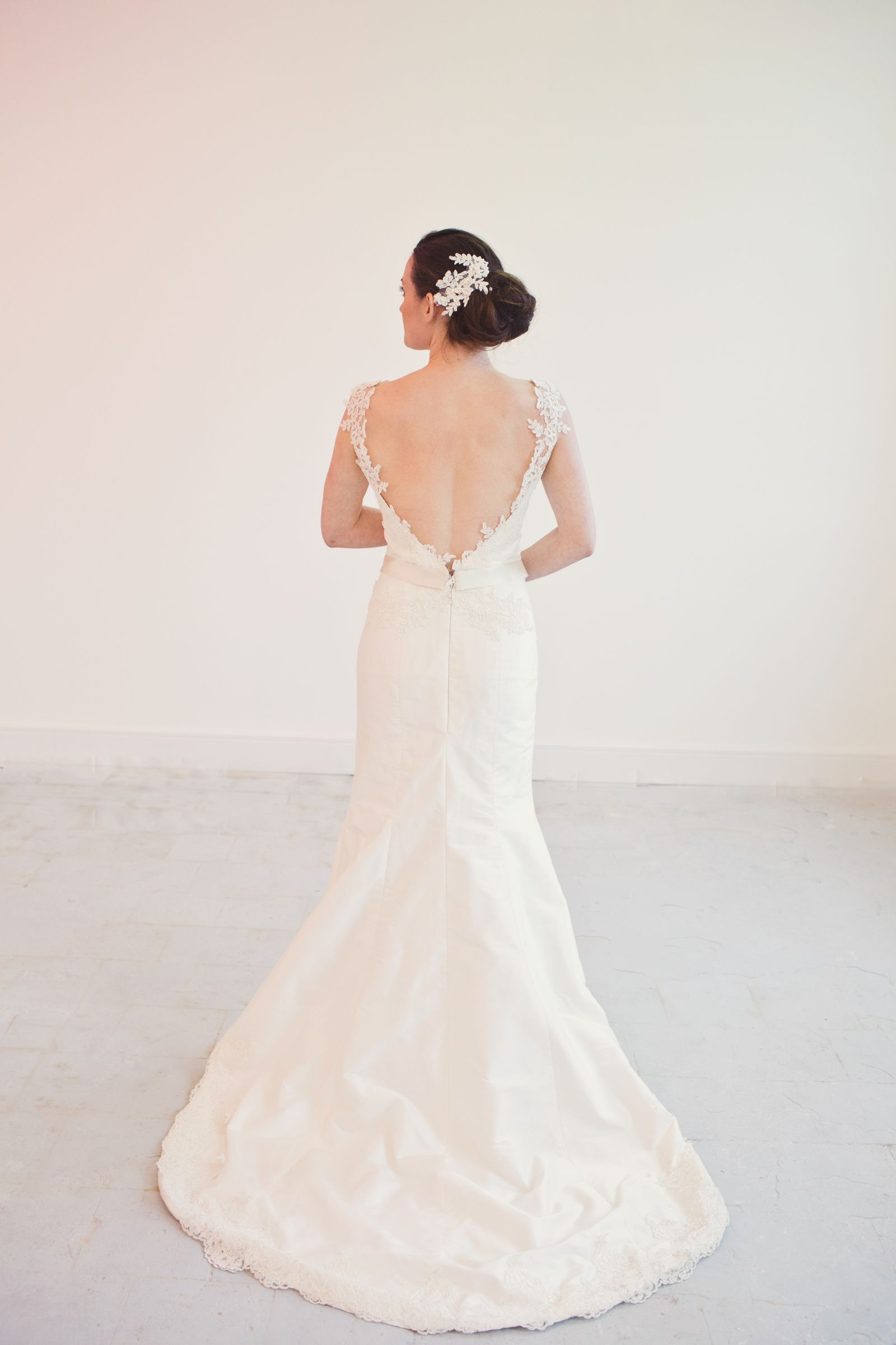 Pollie Lace fishtail wedding dress, Gowns of elegance