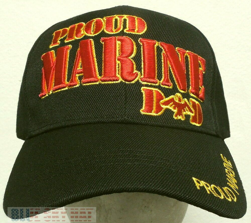 Embroidered us marine corps usmc proud dad mom parents