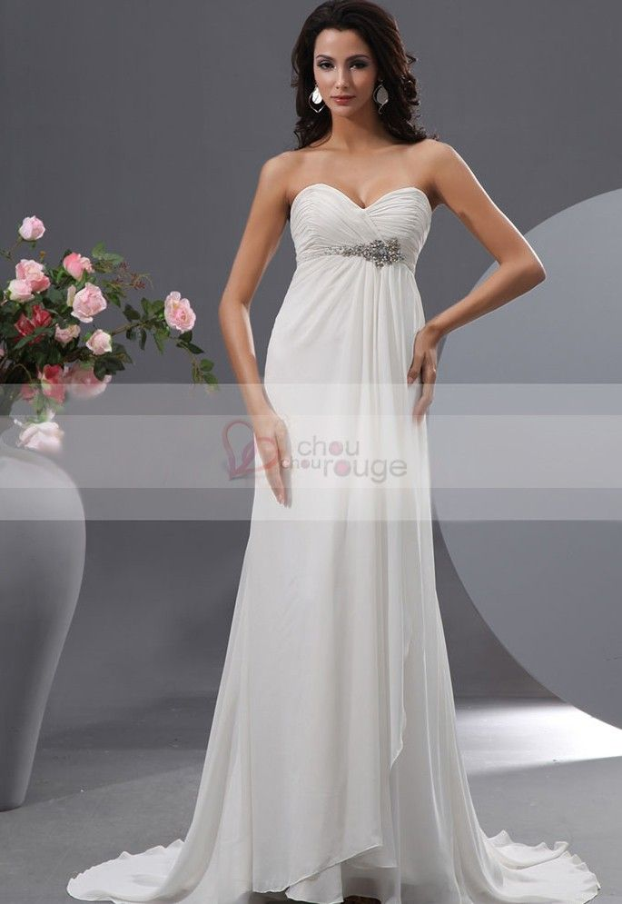 Robe longue de cocktail blanche