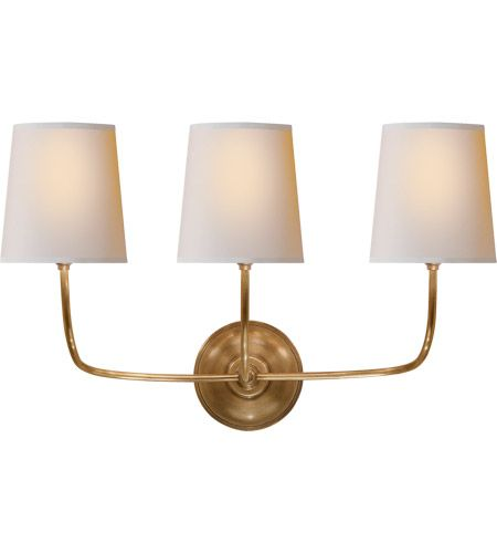 Visual Comfort Tob2009hab Np Thomas O Brien Vendome 3 Light 22 Inch Hand Rubbed Antique Brass