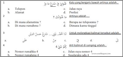 Contoh Soal Dan Jawaban Bahasa Arab Sma As - Peranti Guru