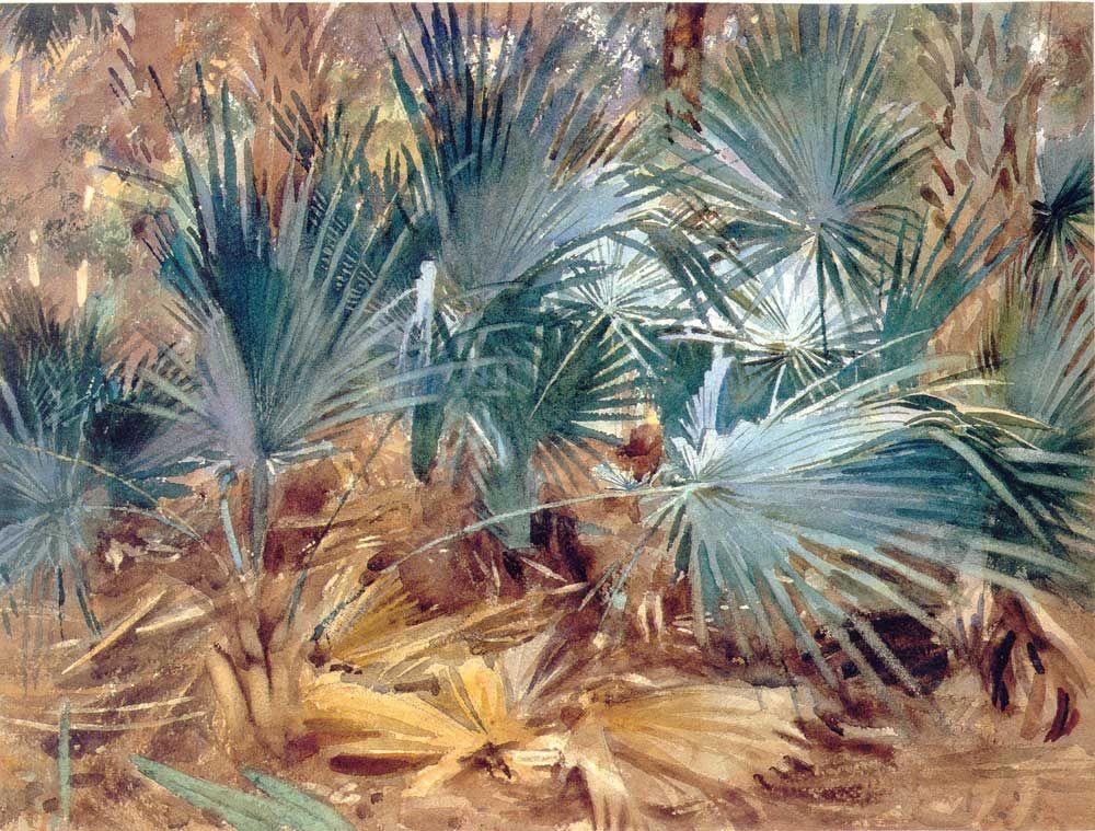 John Singer Sargent - Palmettos, Florida