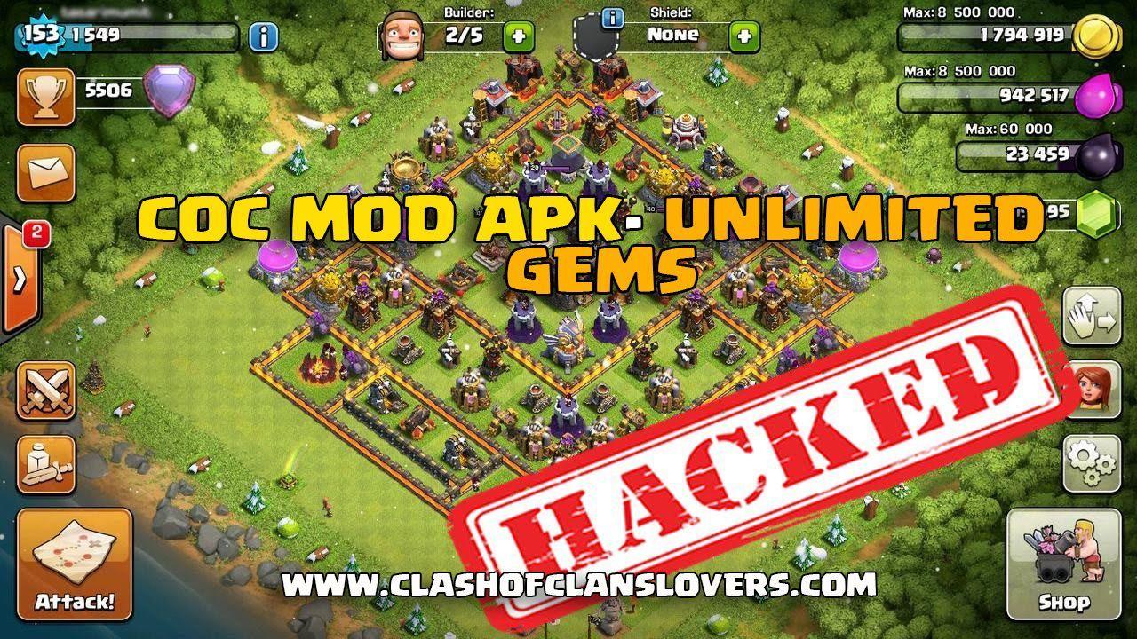Clash Of Clans Hack 2018 Unlimited Gems Gold Elixir