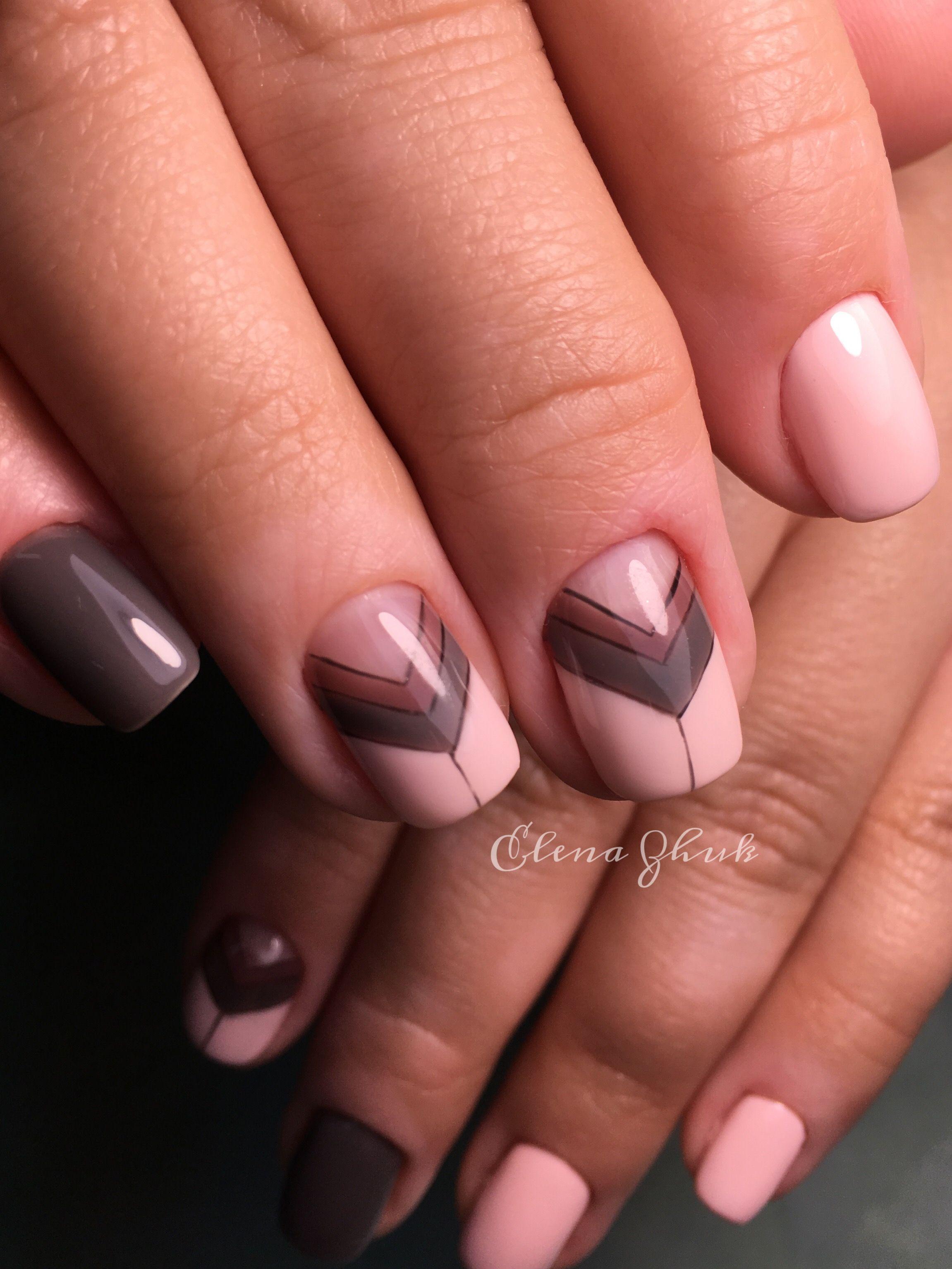 Геометрия на ногтях пастельные тона ручная роспись ногтей ...