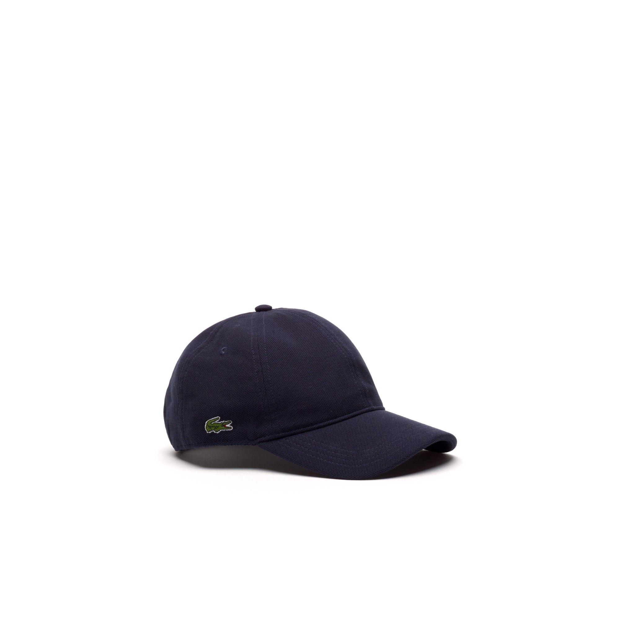 10515bb1065 Lacoste Men s Cotton Pique Cap - Navy Blue S