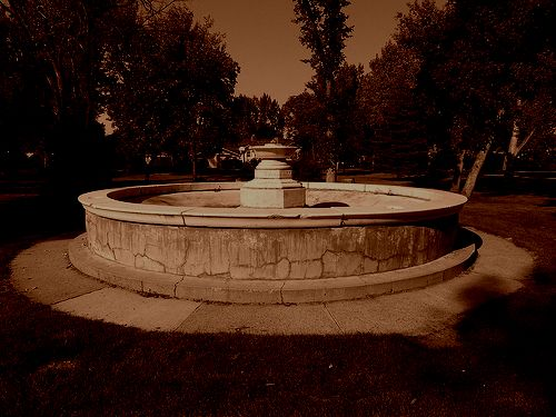 """""""the outsiders"""" fountain 