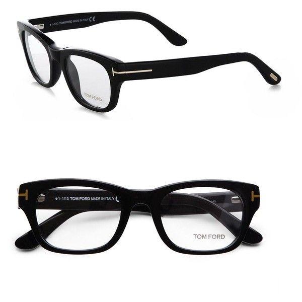 7bd1b346cd Tom Ford Eyewear Thick Square Eyeglasses Black ( 420) found on Polyvore