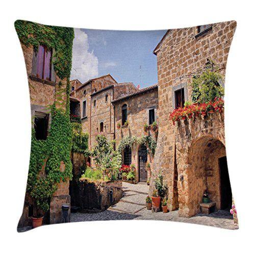 Ambesonne Farm House Decor Throw Pillow Cushion Cover by, Italian