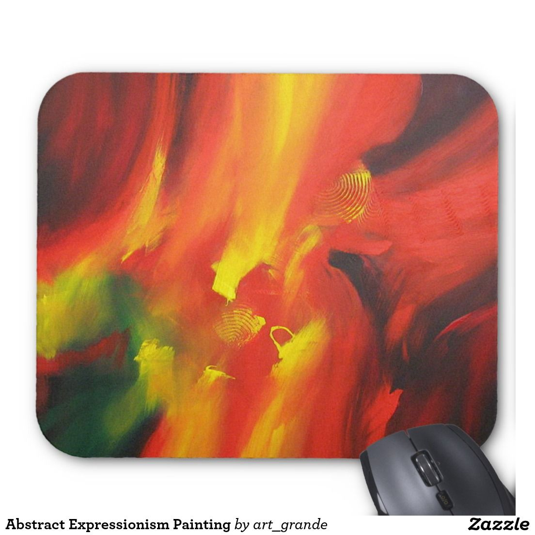Abstract Expressionism Painting Mouse Pad