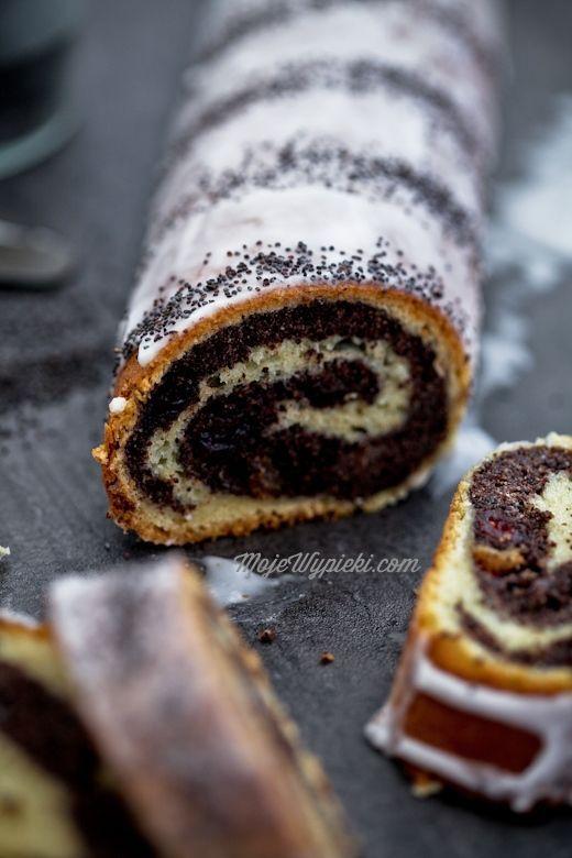 Makowiec zawijany   Polish recipes, Desserts, Polish desserts