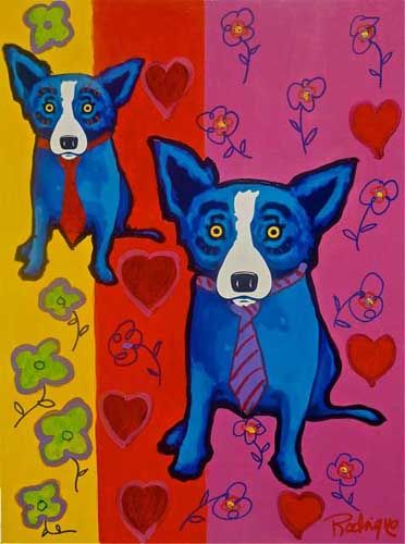The Art Of George Rodrigue With Images Blue Dog Art Blue Art Blue Dog Painting