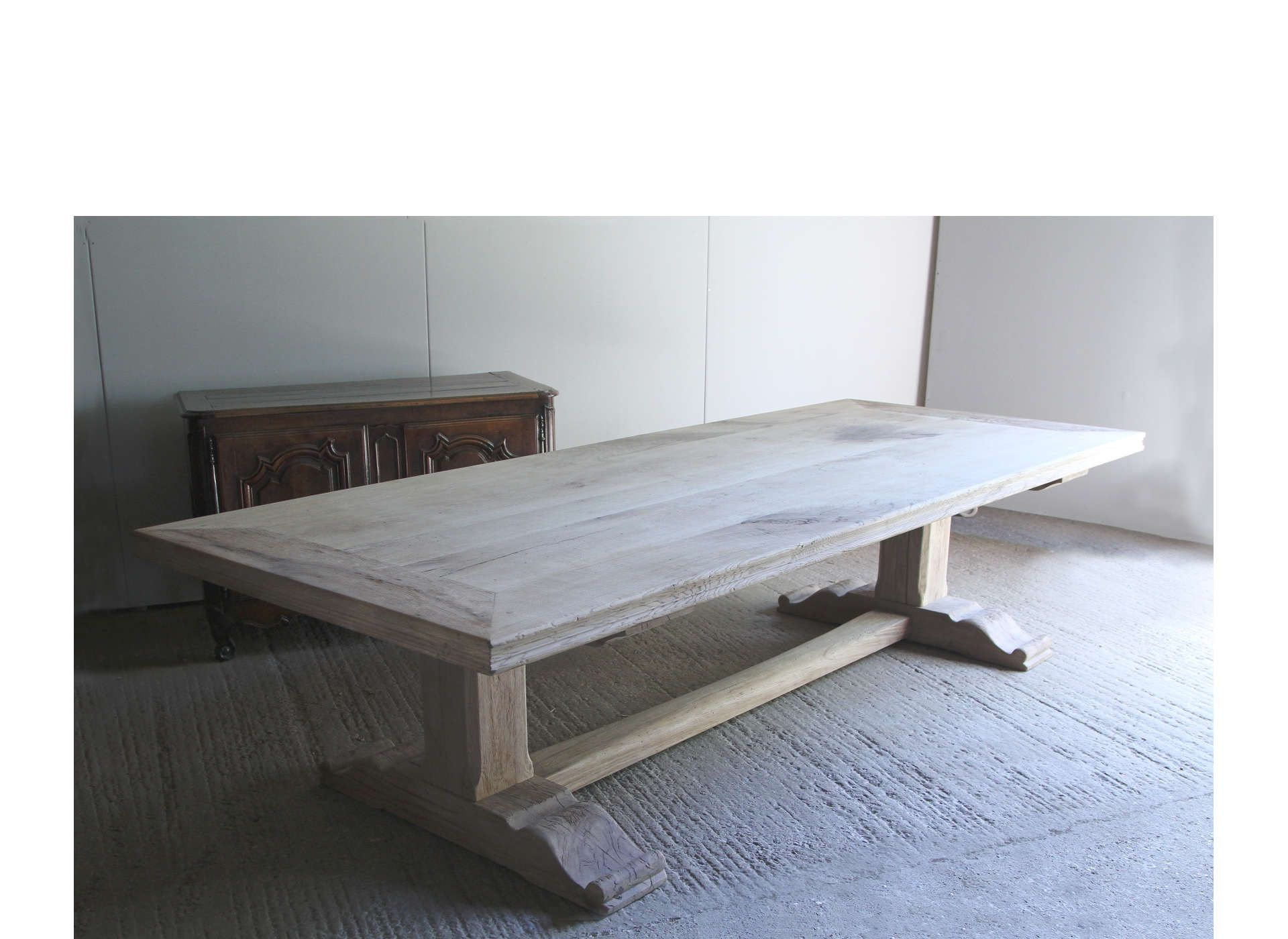 Large French Trestle Table Timber Dining Table Table Trestle Table