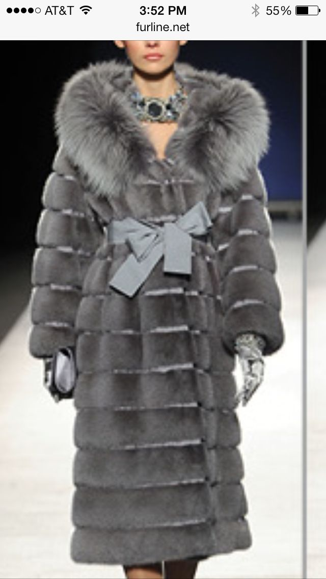 Mink and fox fur coat | casacos de pele e visom