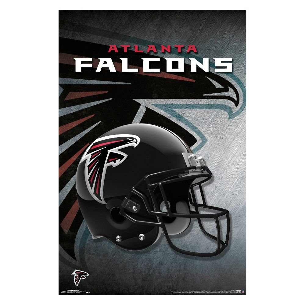 If You Re A True Falcons Fan You Ll Be Happy To Show Your Pride For The Atlanta Franchise With Thi Atlanta Falcons Helmet Falcons Helmet Atlanta Falcons Poster
