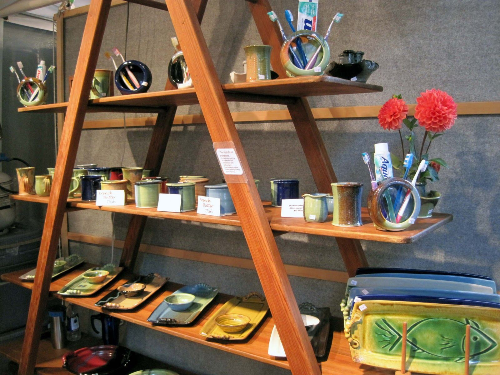 shelf display at a market booth - Google Search