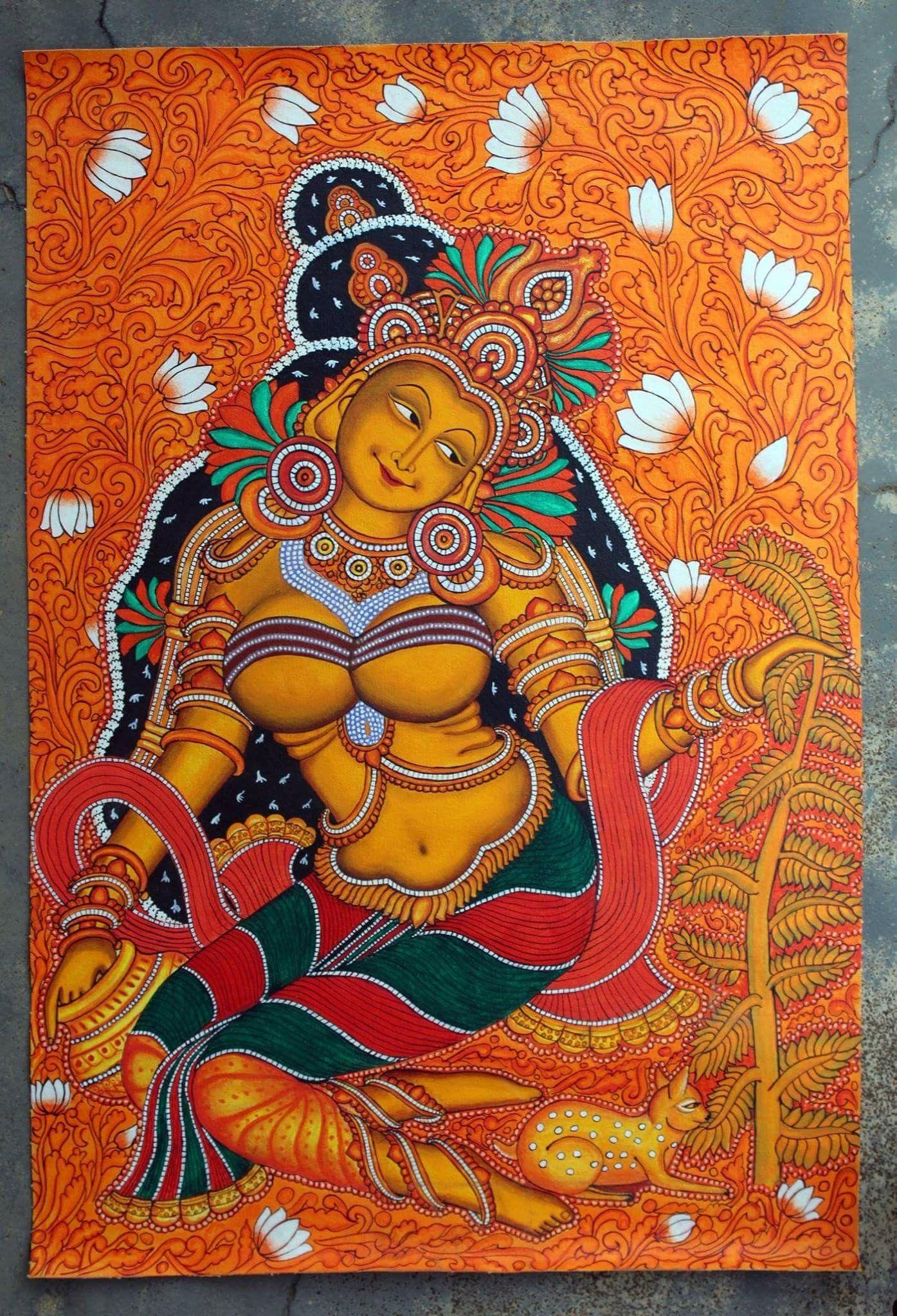 Pin by Ashwini Krishna on Mural in 2019 | Kerala mural ...  Pin by Ashwini ...