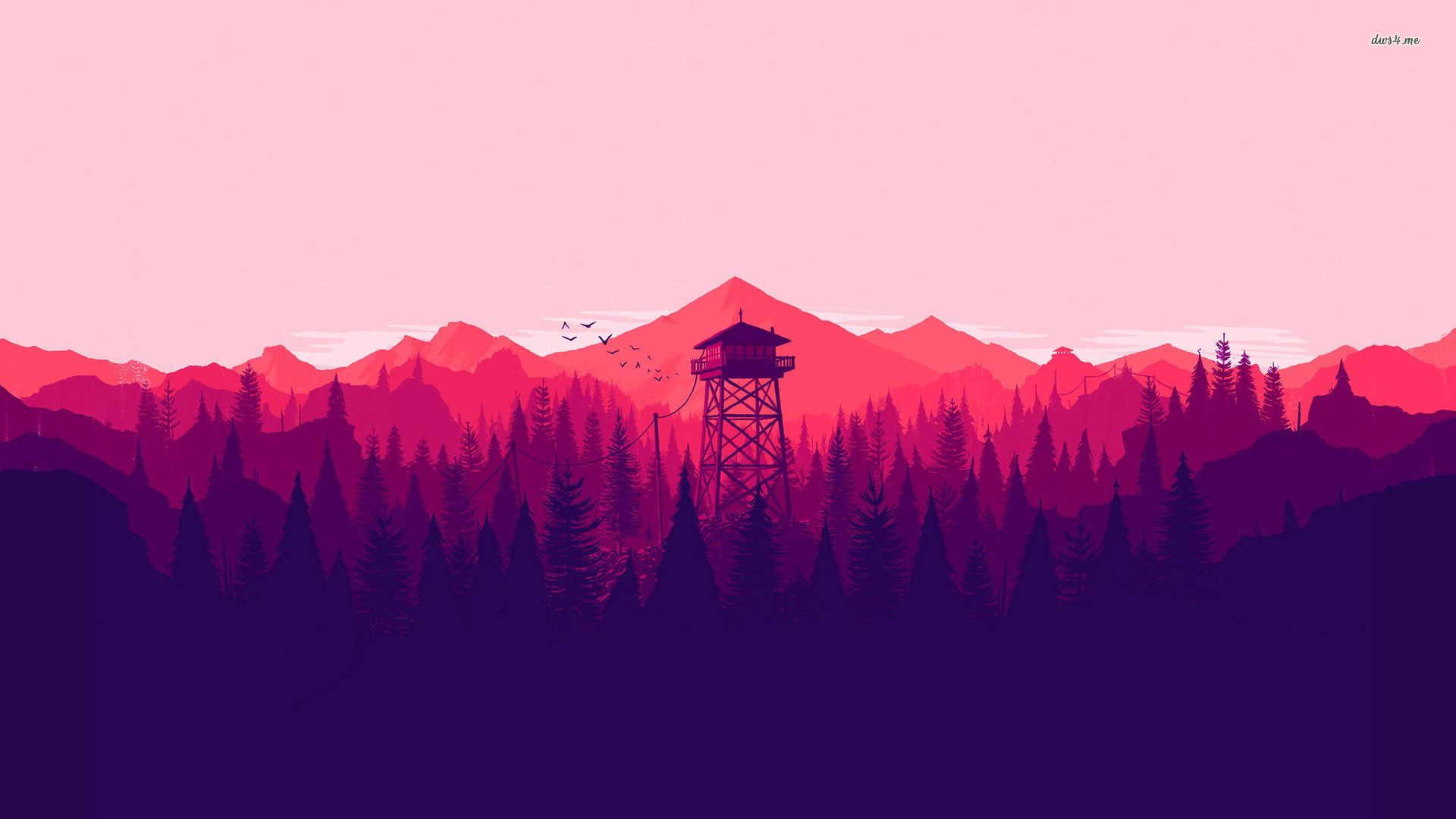 30147 Firewatch 1920×1080 Vector Wallpaper