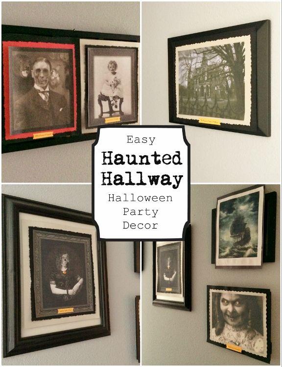 Haunted Halloween Hallway- Inexpensive Halloween Decor Idea - DIY - halloween decorations ideas diy