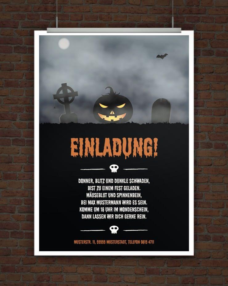 Drucke Selbst Halloweeneinladung Mit Originellem Einladungstext Halloween Einladung Halloween Spruche Halloween Geburtstagsparty