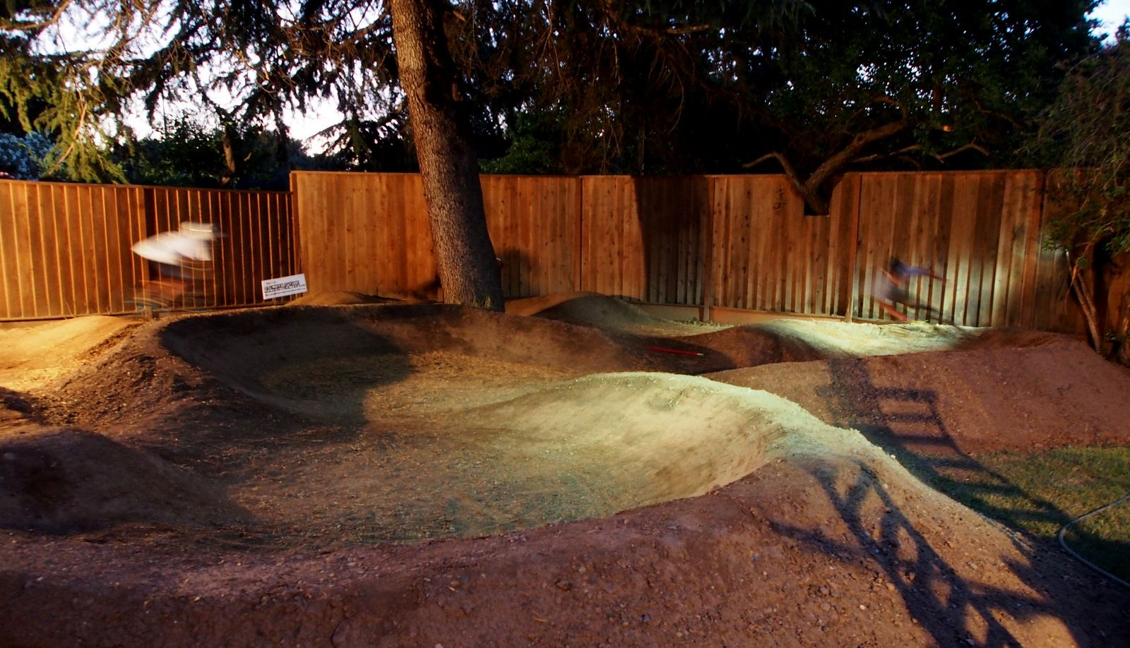 backyard pump track at night pump track pinterest backyard