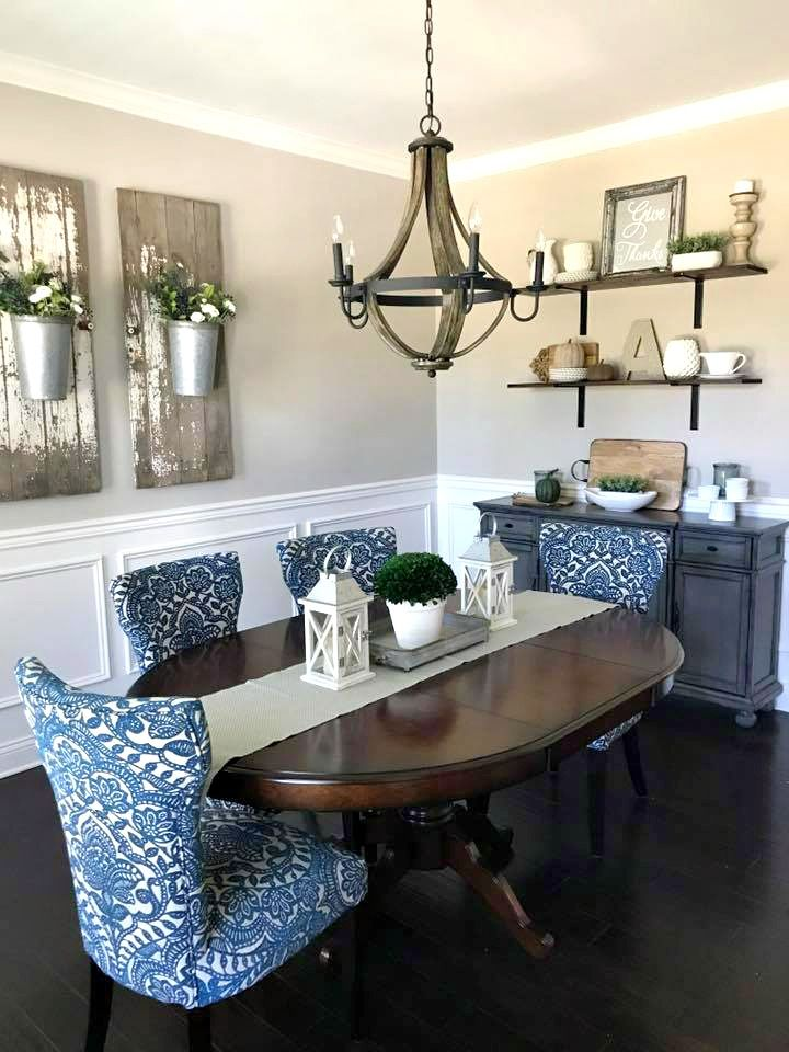 Elegant Farmhouse Dining Room Decorating  French Country Dining Magnificent Country Dining Room Lighting Inspiration Design