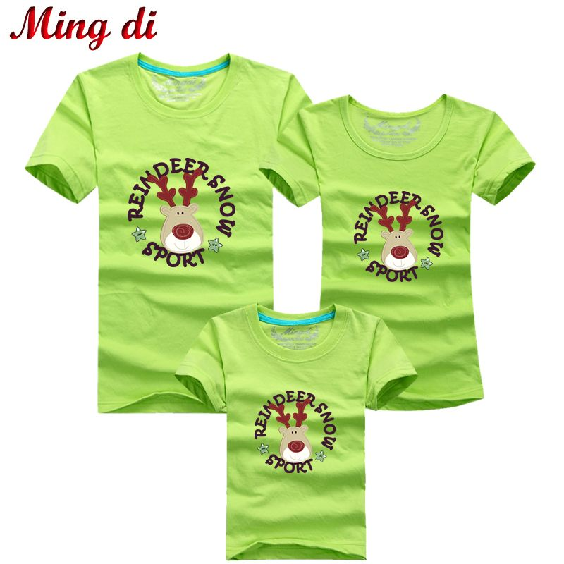 Ming Di Family Look Christmas Deer T Shirts Mom & Dad & Son ...