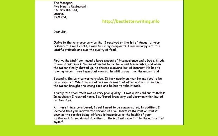 Business Letter Writing Tips Example The Sample For Such Personal