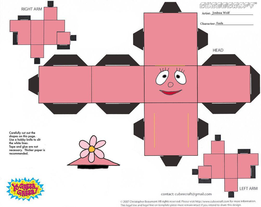 Foofa Cubee Yo Gabba Gabba Gabba Gabba Kids Party Themes [ 796 x 1004 Pixel ]