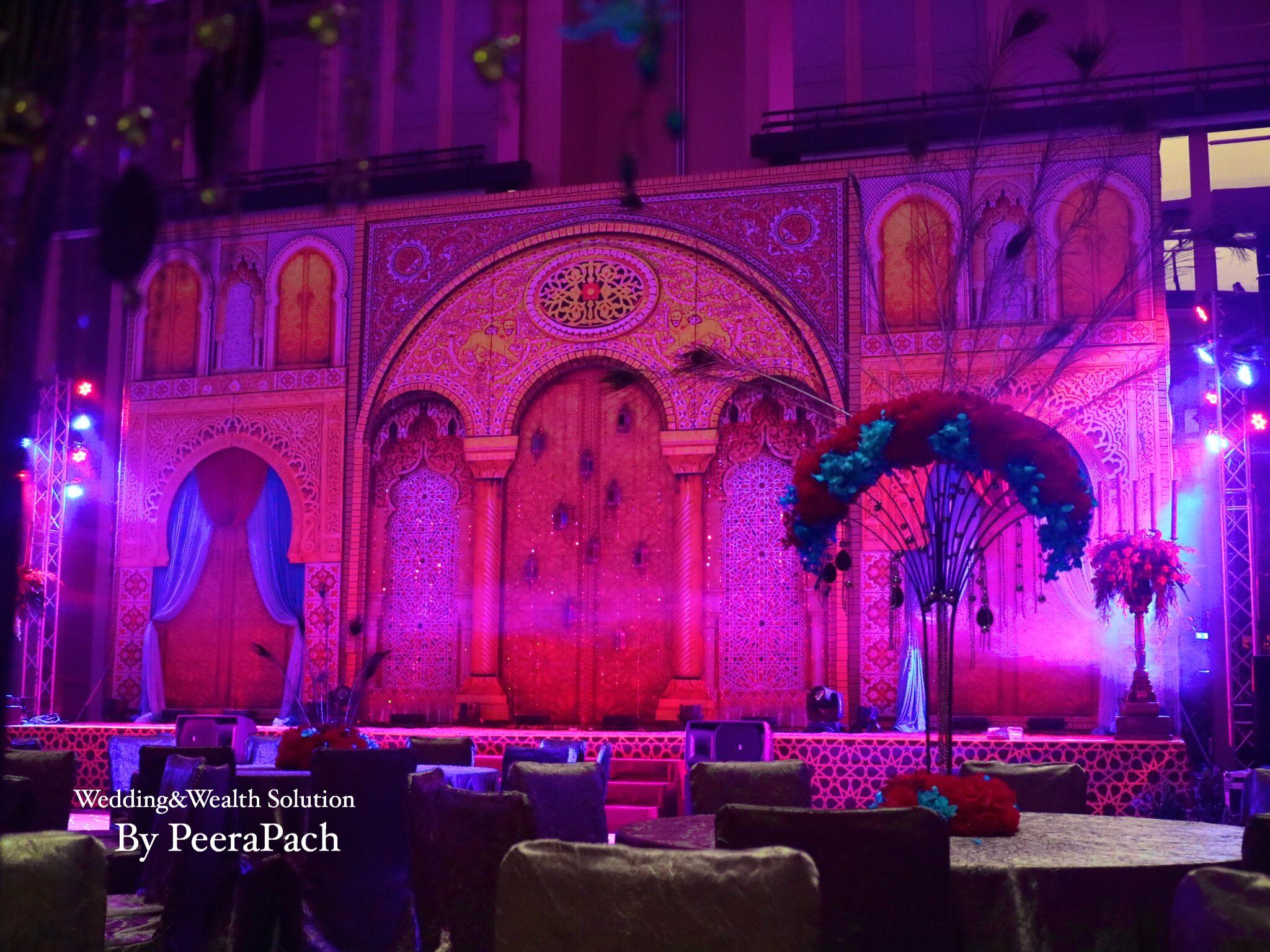 Rajasthani wedding stage decoration  Pin by WeddinguWealth Solution By PeeraPach on Sangeet Decor  Pinterest